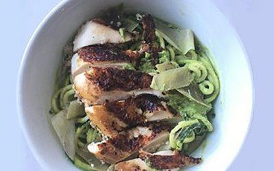AIP Chicken and Artichoke Pesto Pasta