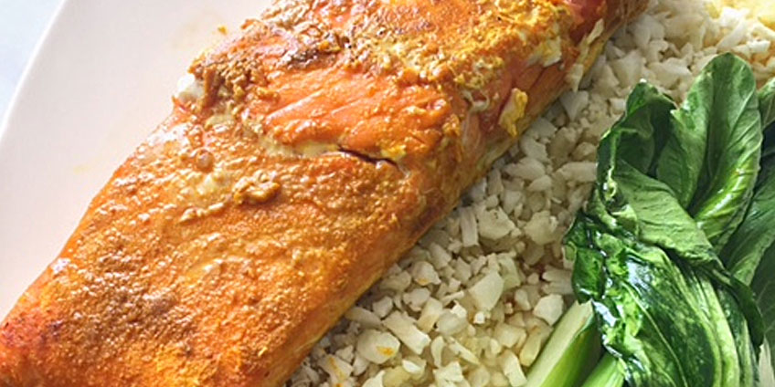 AIP Curried Salmon & Roasted Bok Choy