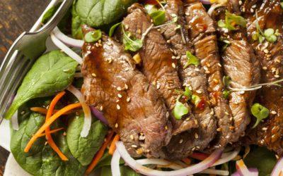 Paleo Citrus Beef Salad Stir-Fry