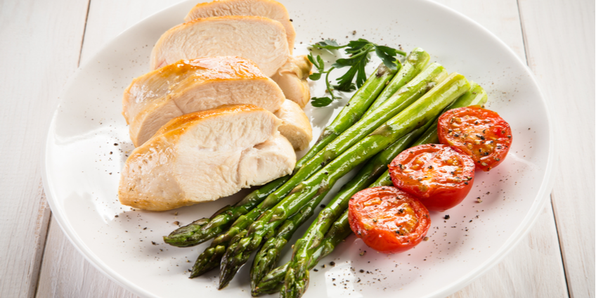 Paleo Chicken & Asparagus with Lemon & Herbs