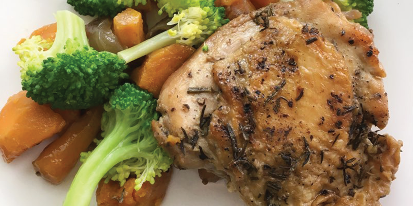 AIP Easy Slow Cooker Chicken Thighs and Vegetables