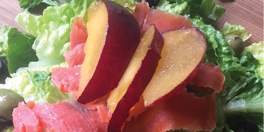 AIP Pickled Plum and Smoked Salmon Salad