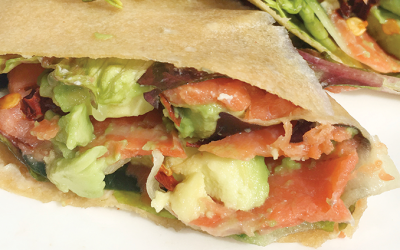 AIP Smoked Salmon Wrap