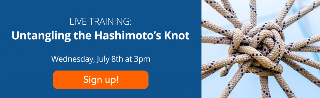 Untangling the Hashimoto's Knot