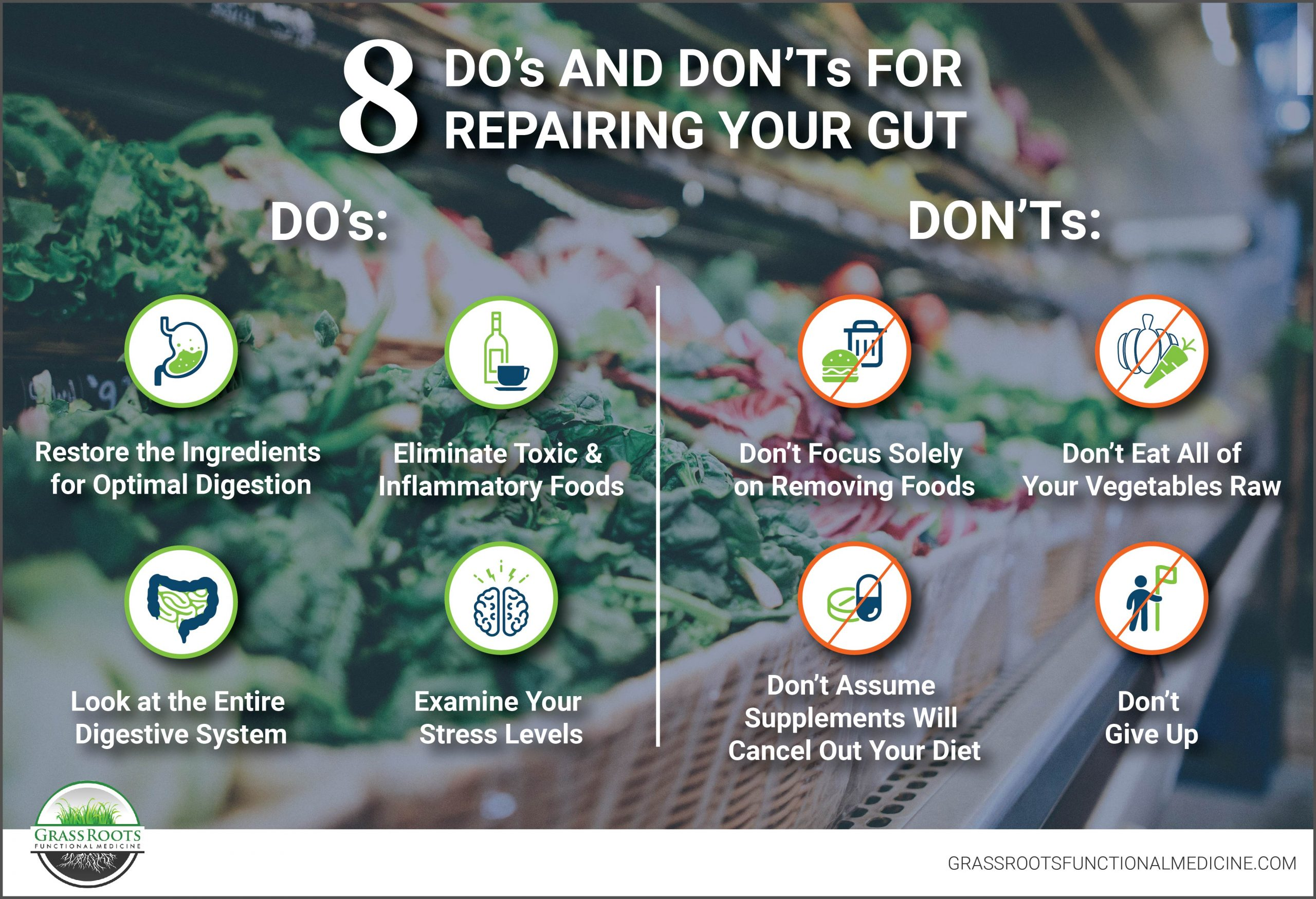 Do's and Don'ts for Repairing Your Gut