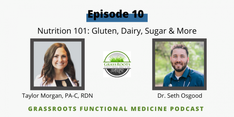Ep 10: Nutrition 101: Gluten, Dairy, Sugar & More with Taylor Morgan, PA-C, RDN
